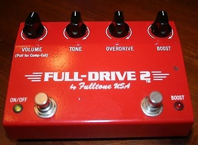 Fulltone Full-Drive 2 TR-100 TR100 Limted Edition RED RARE!!