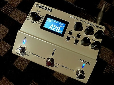 Boss DD-500 Digital Delay Pedal with Power Supply - Opened Box Only!