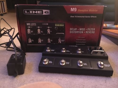 Line 6 6 M9 STOMPBOX MODELER Multi-Effects Guitar Effect Pedal with Power Supply
