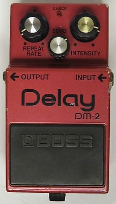 Boss Delay DM-2 Guitar Pedal - Red