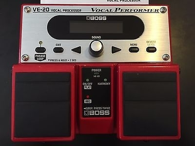 Boss VE-20 Vocal Performer Effect Pedal Processor Roland